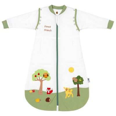 Children Sleeping Bag with Detachable Sleeves Forest Friends Tog 3.5 3-6 Yrs